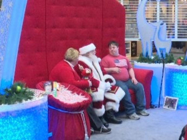 Caring Santa visits Winchester Mall for children with special needs