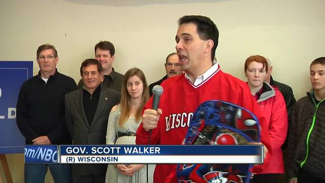 Wisconsin Gov. Walker visits La Crosse, talks about proposed child tax credit