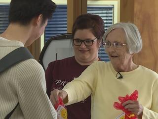 Senior citizens perform random act of kindness