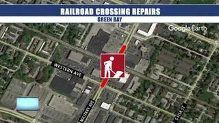 Railroad crossing repairs causes road closures