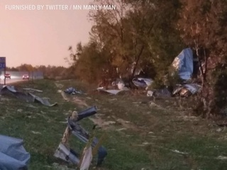 Communities clean up after storms sweep MN