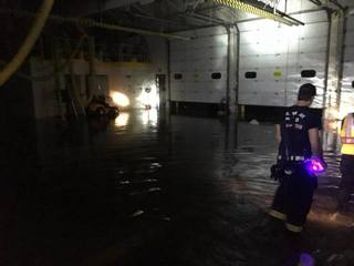 Fire station reopening after flooding