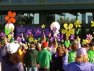 Hundreds of people join Walk to End Alzheimer's